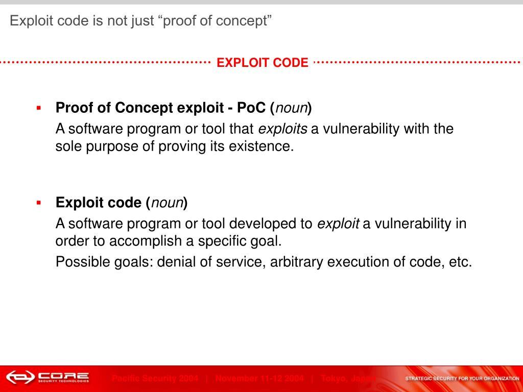 """Exploit code is not just """"proof of concept"""""""