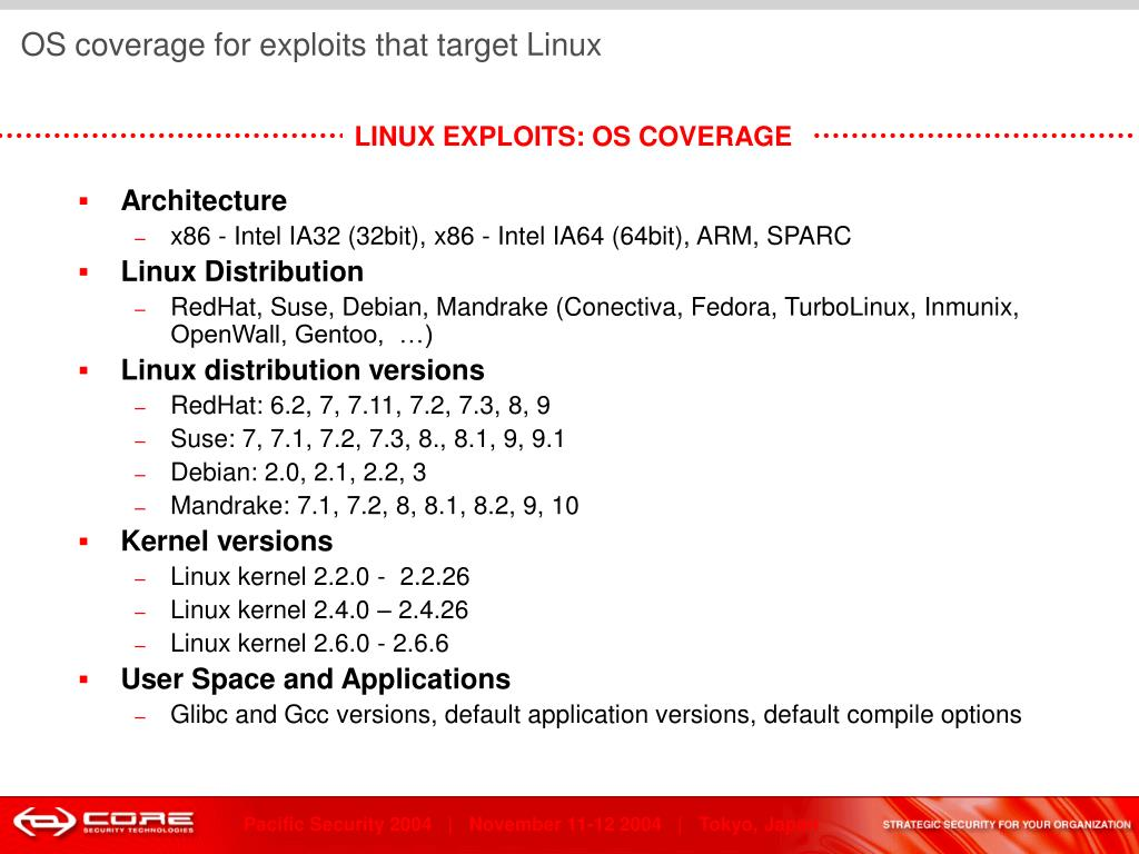 OS coverage for exploits that target Linux