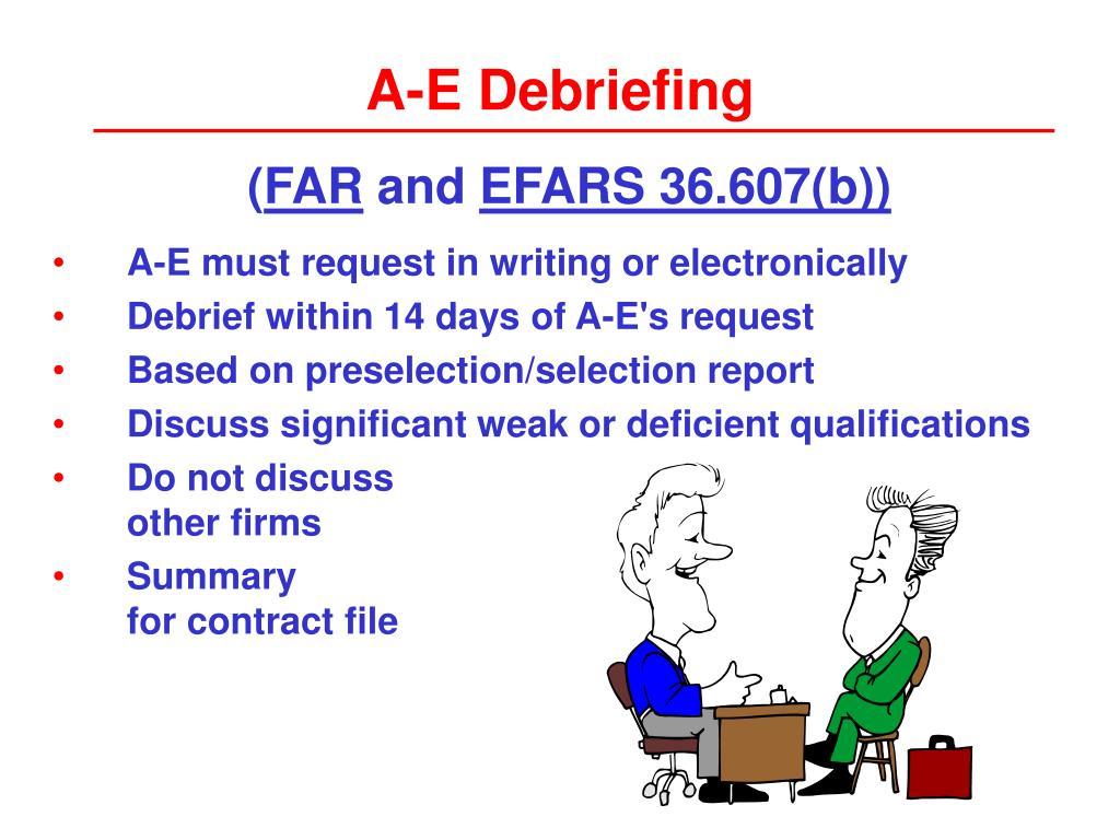 A-E Debriefing
