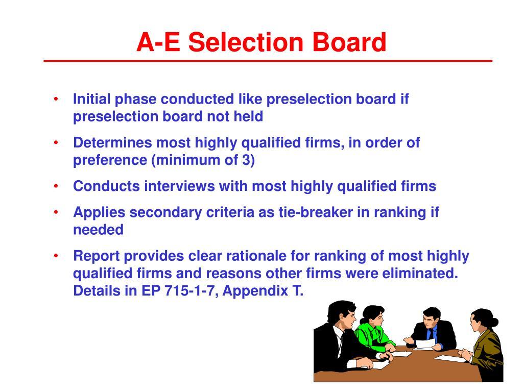 A-E Selection Board