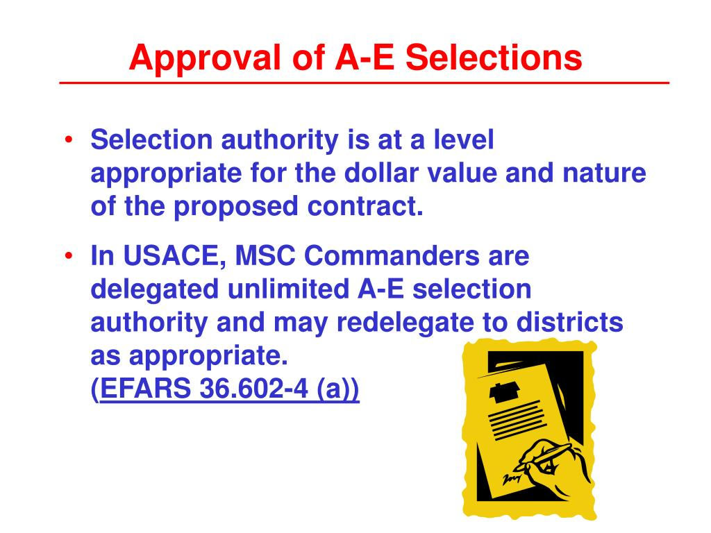 Approval of A-E Selections