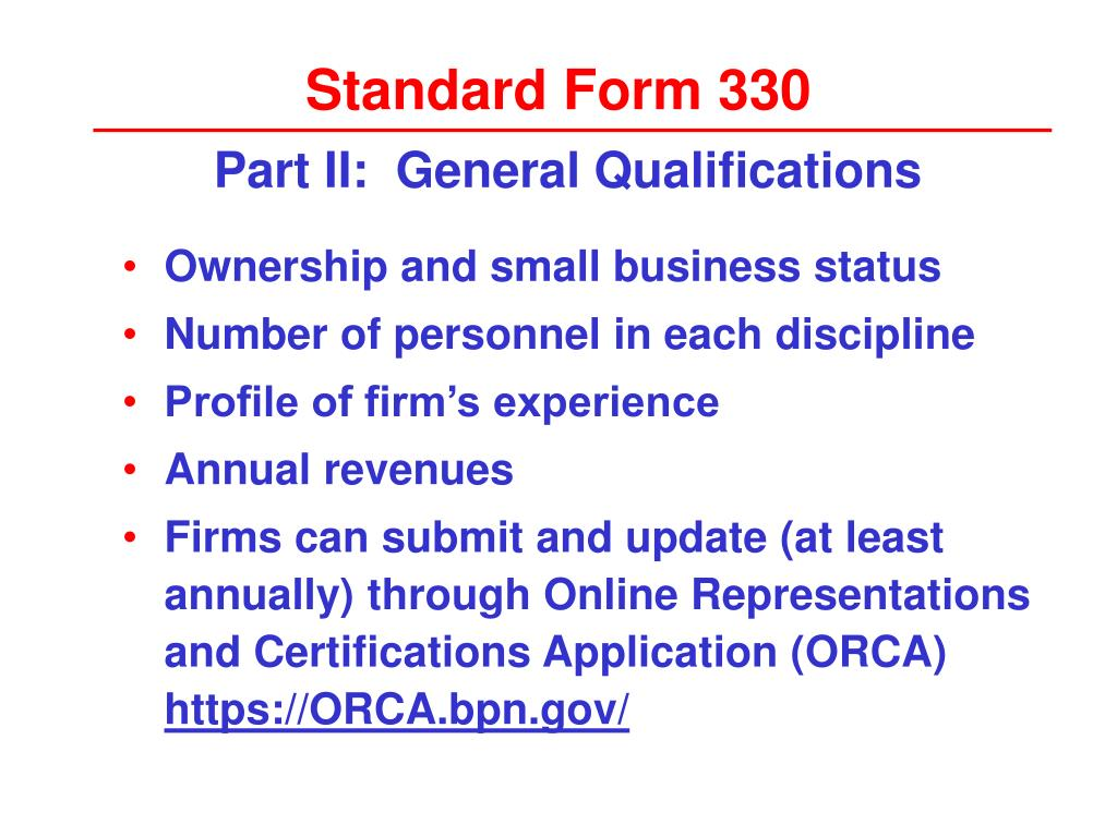 Standard Form 330