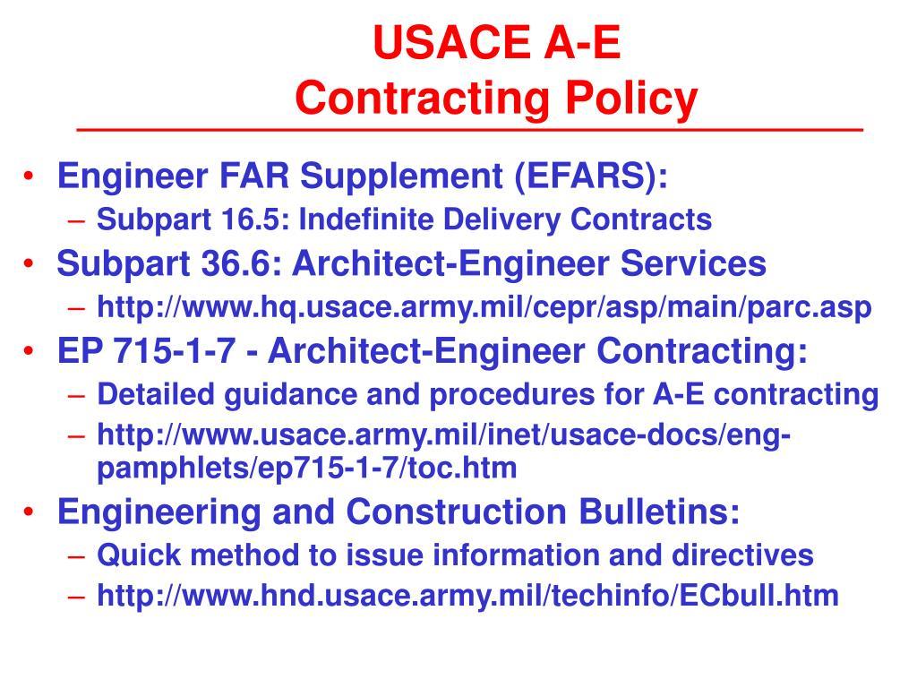USACE A-E