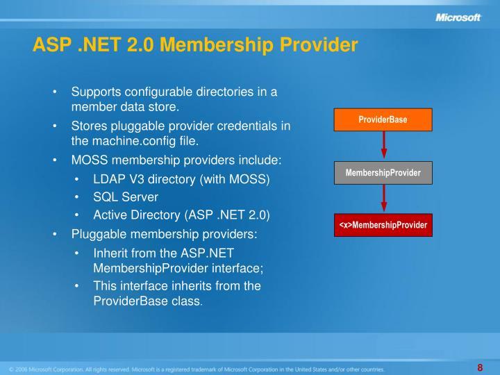 ASP .NET 2.0 Membership Provider