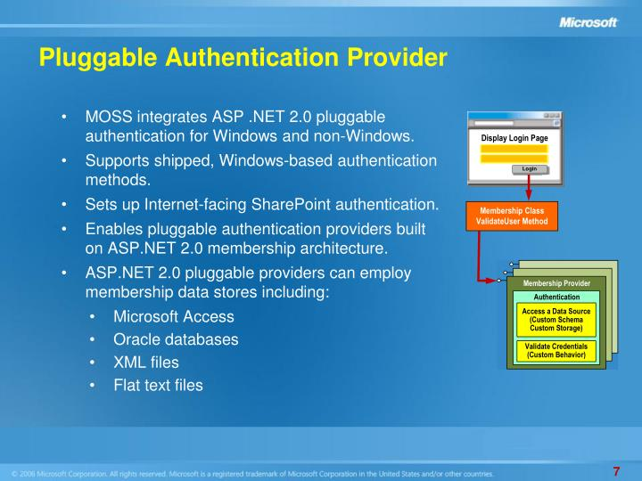 Pluggable Authentication Provider