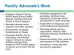family advocate s work