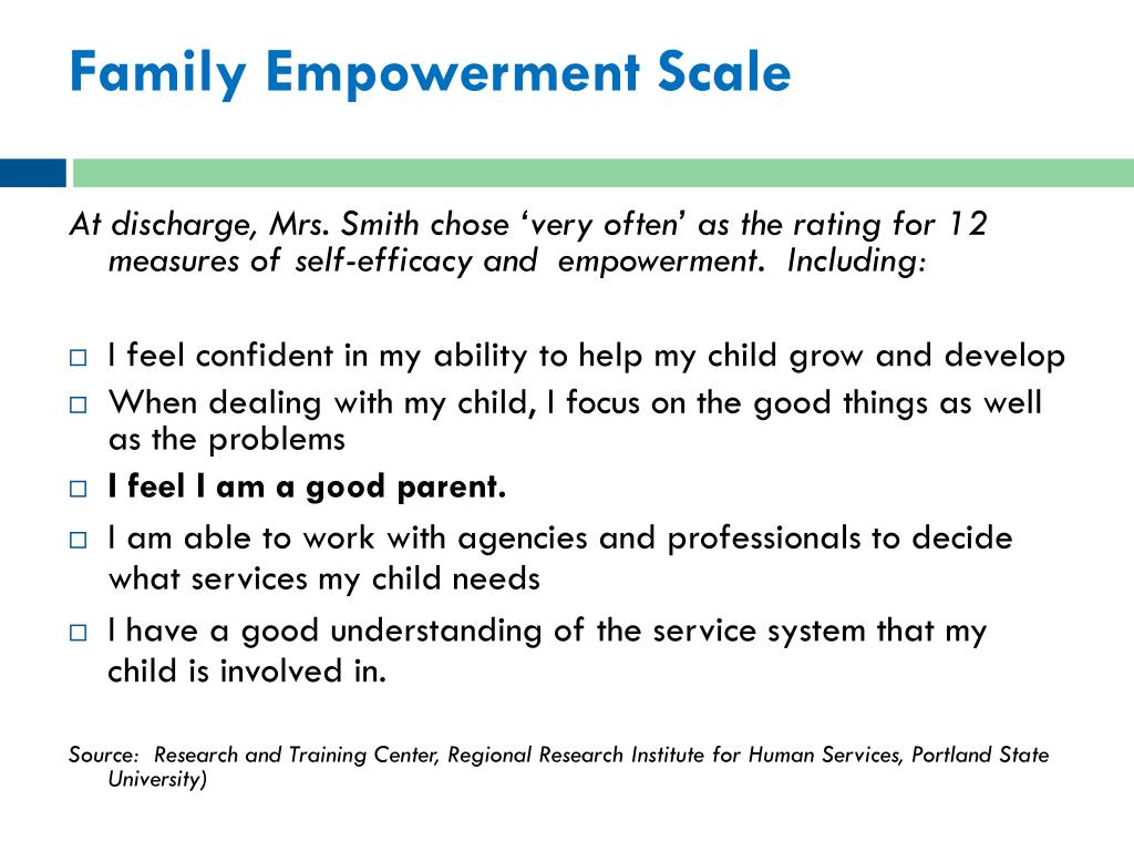 Family Empowerment Scale