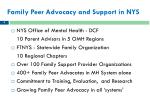 family peer advocacy and support in nys