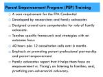 parent empowerment program pep training