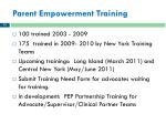 parent empowerment training