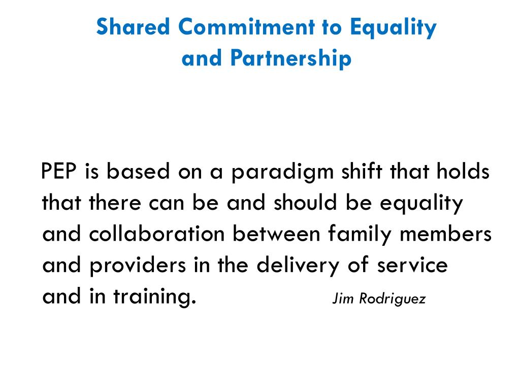 Shared Commitment to Equality