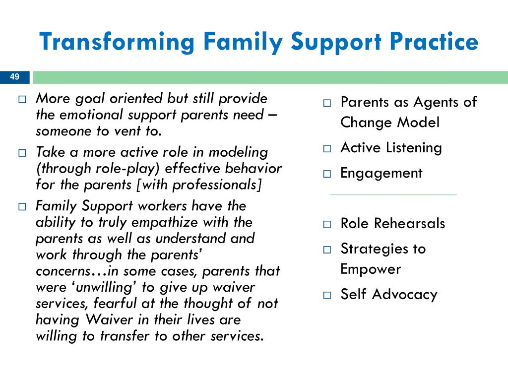 Transforming Family Support Practice