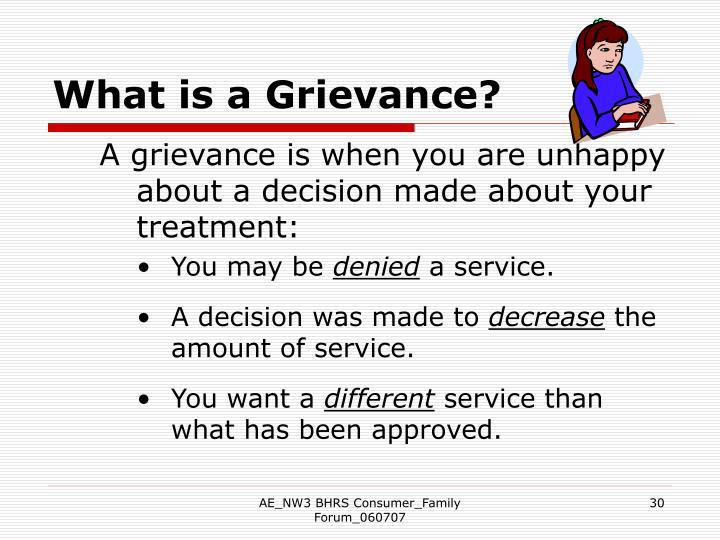What is a Grievance?