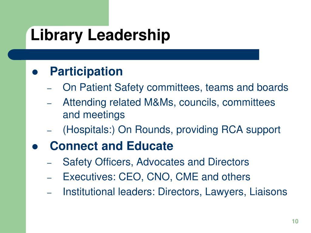 Library Leadership