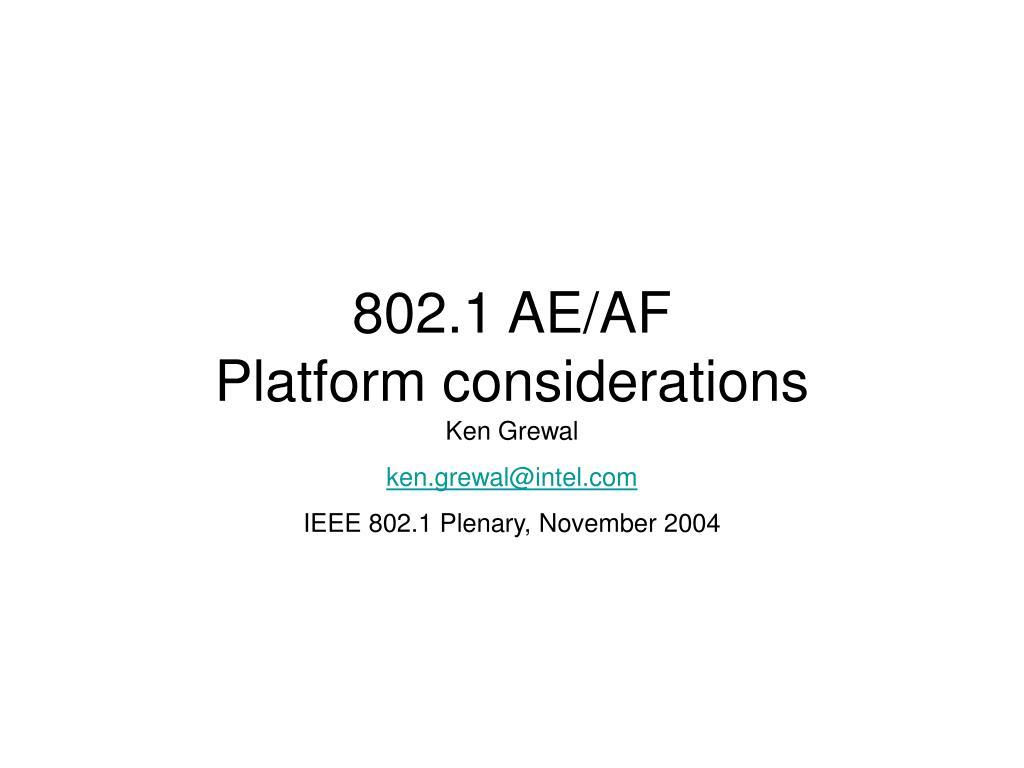 802.1 AE/AF
