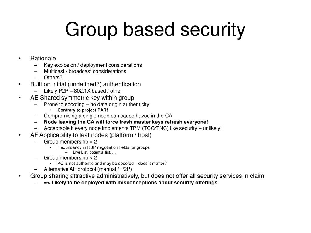 Group based security