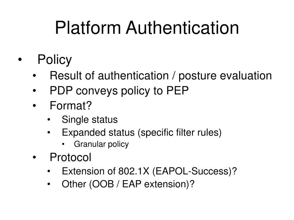 Platform Authentication