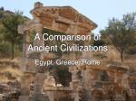 a comparison of ancient civilizations