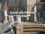 social and political structure