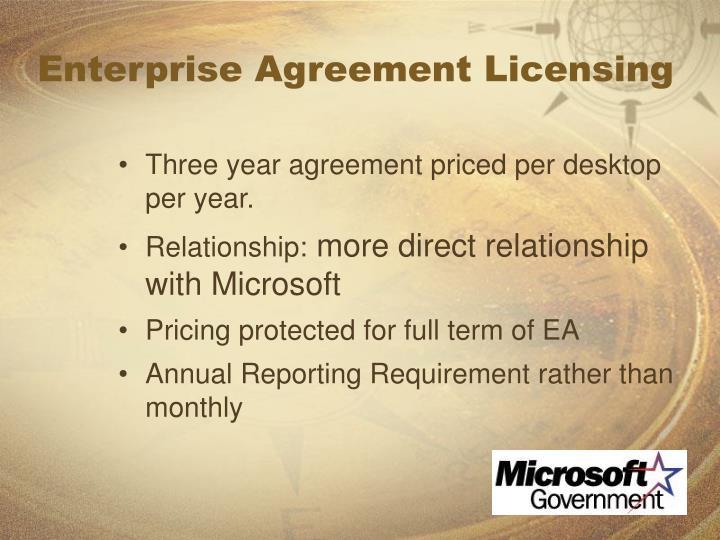 Enterprise Agreement Licensing