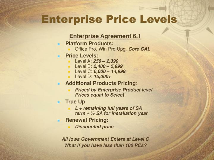 Enterprise Price Levels