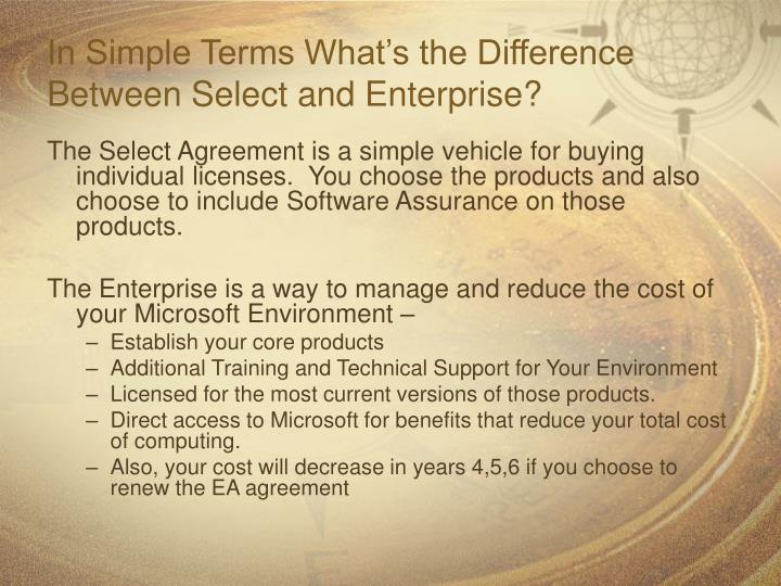 In Simple Terms What's the Difference Between Select and Enterprise?