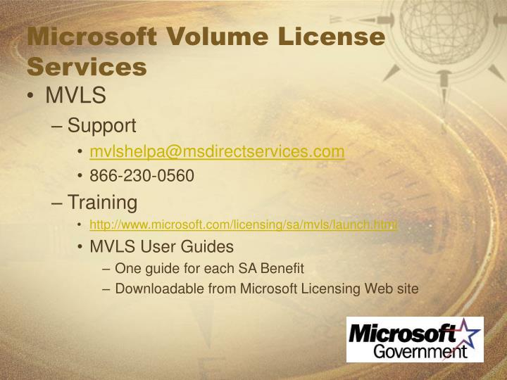 Microsoft Volume License Services