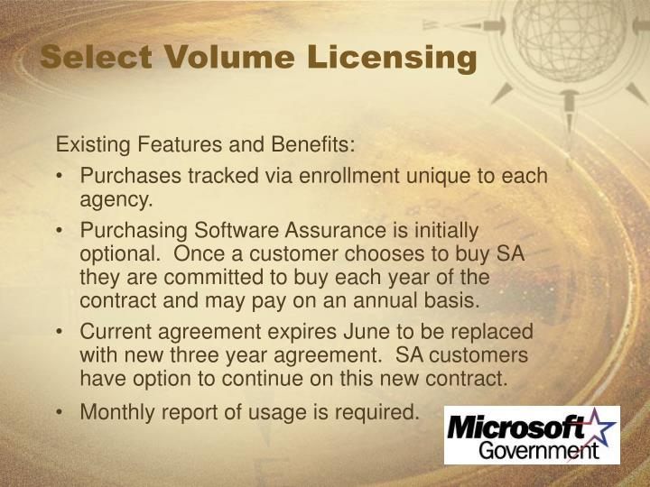 Select Volume Licensing