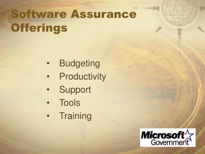 Software Assurance Offerings