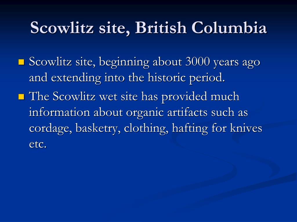 Scowlitz site, British Columbia