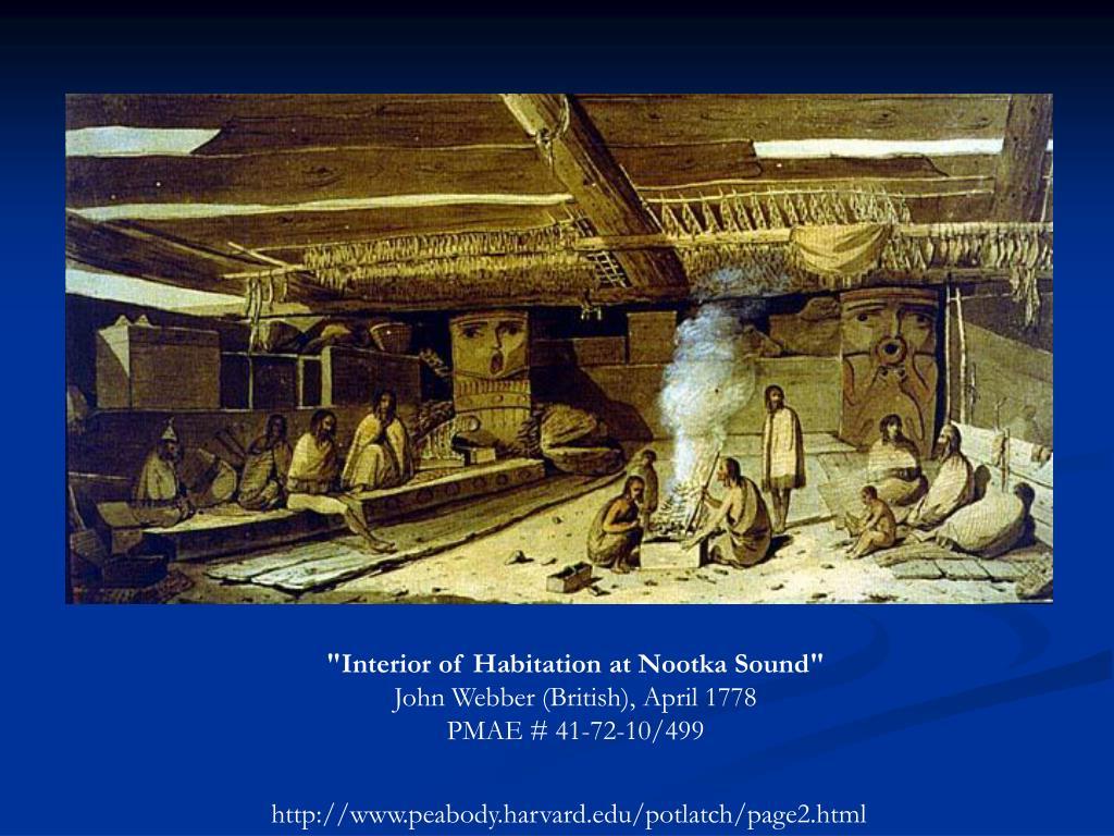 """Interior of Habitation at Nootka Sound"""