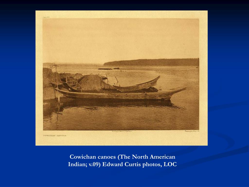 Cowichan canoes (The North American Indian; v.09) Edward Curtis photos, LOC