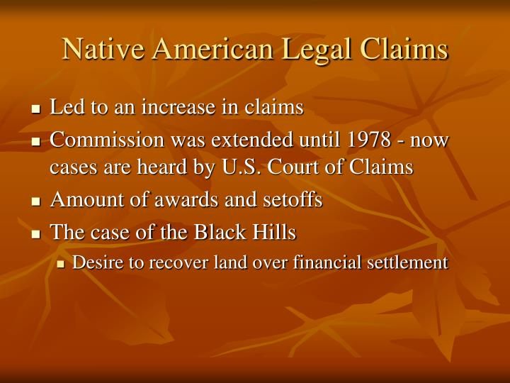 Native American Legal Claims