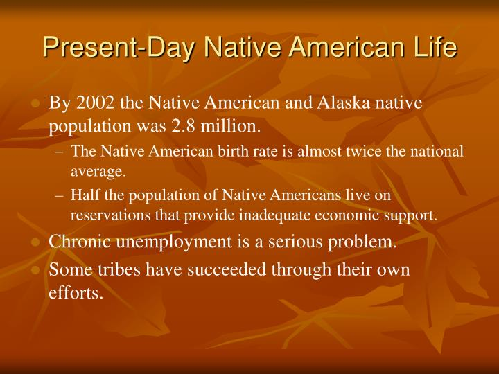 Present-Day Native American Life