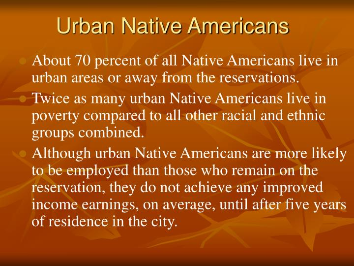 Urban Native Americans