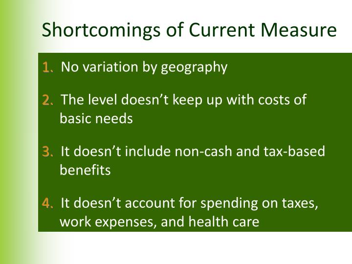 Shortcomings of Current Measure