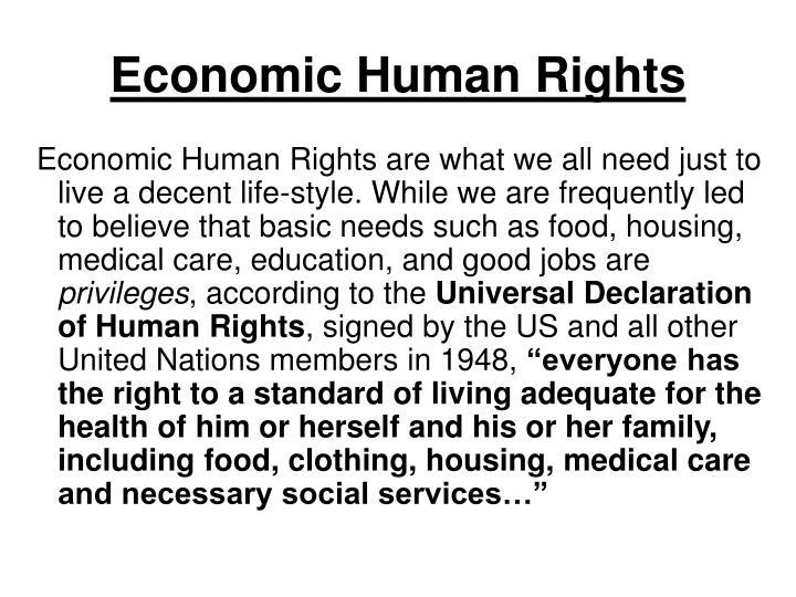 Economic Human Rights