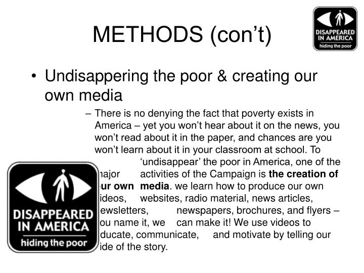METHODS (con't)