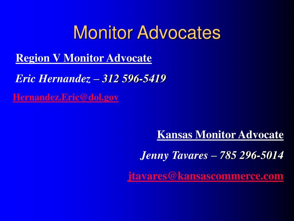 Monitor Advocates