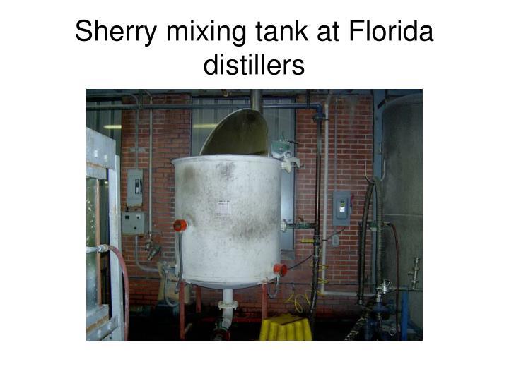 Sherry mixing tank at Florida distillers