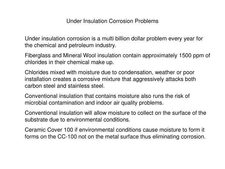Under Insulation Corrosion Problems