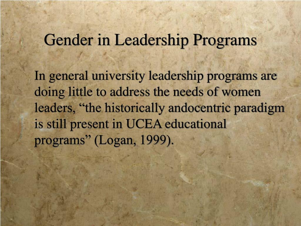 Gender in Leadership Programs