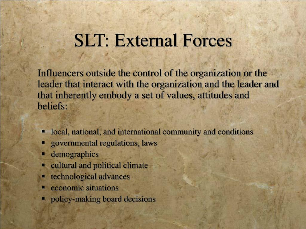 SLT: External Forces