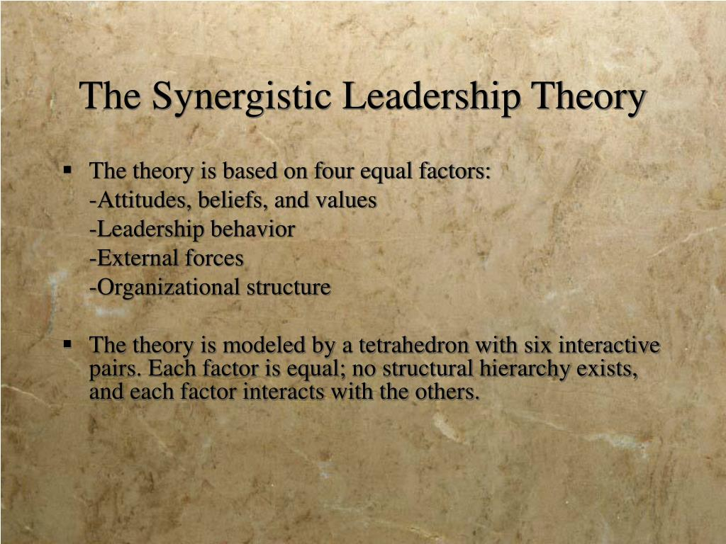 The Synergistic Leadership Theory