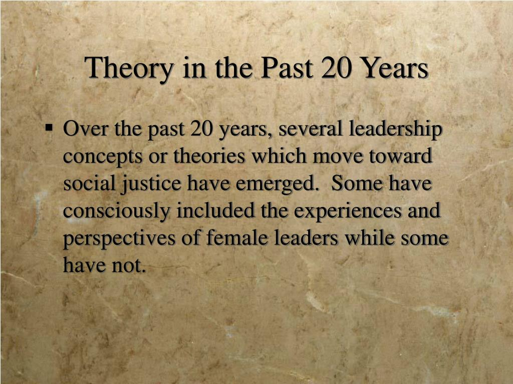 Theory in the Past 20 Years