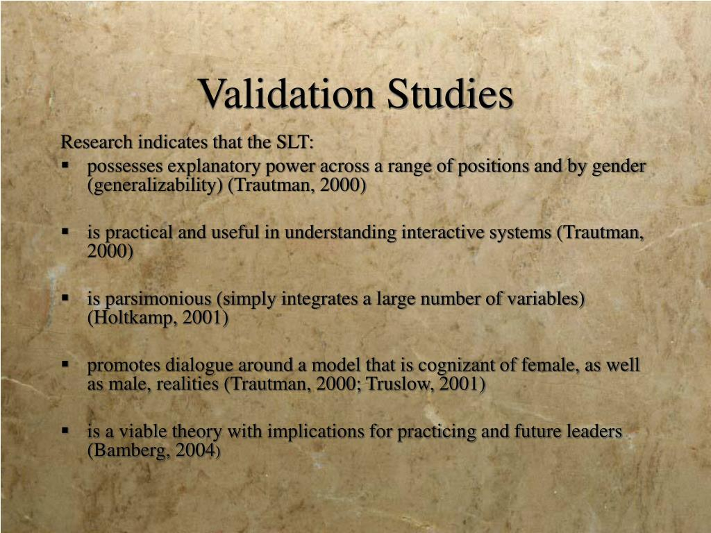Validation Studies