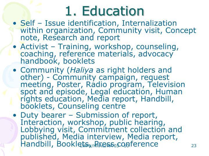 1. Education