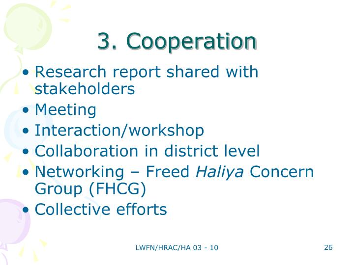 3. Cooperation