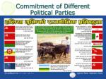 commitment of different political parties